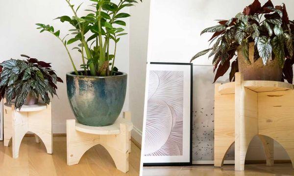Tuto : Créez des supports pour plantes, avec des pieds encastrables