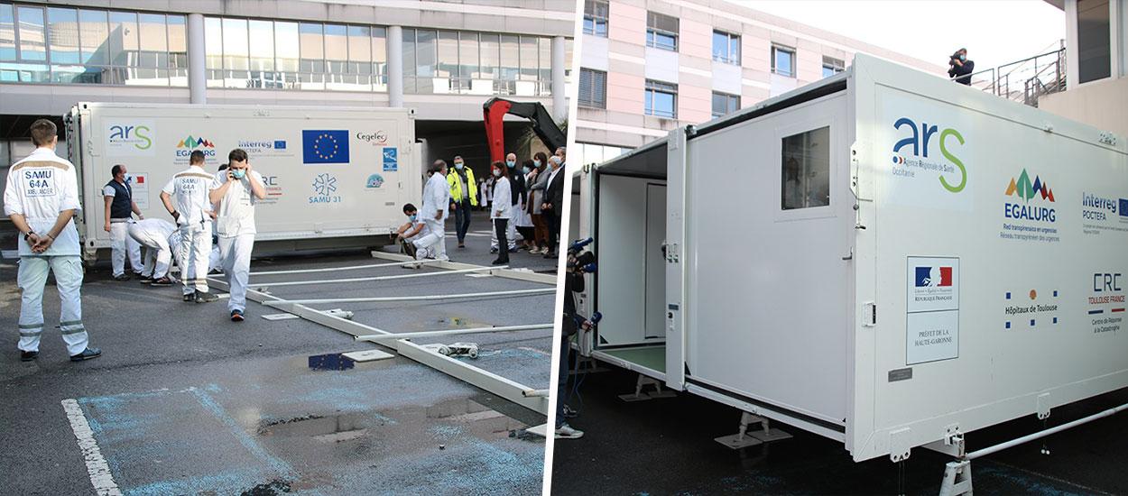 Cet hôpital mobile français se déplie en seulement 20 minutes pour faire face au Covid-19