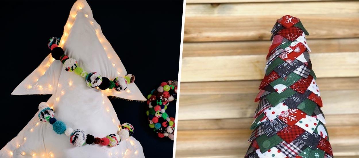 Pour Noël, fabriquez un sapin écolo... en tissu !