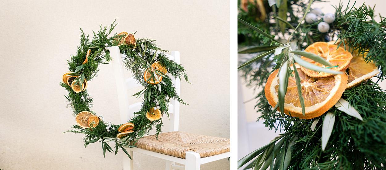 Tuto : Réalisez une couronne de Noël naturelle et qui sent bon !