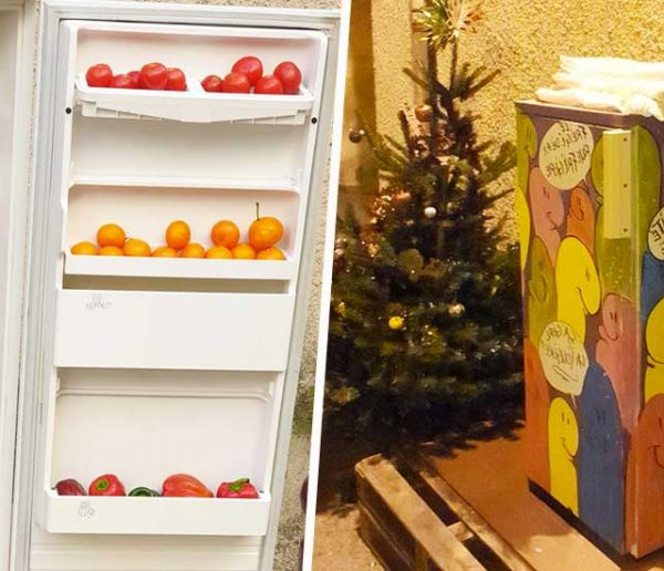Il met à disposition un frigo solidaire dans la rue pour lutter contre le gaspillage alimentaire