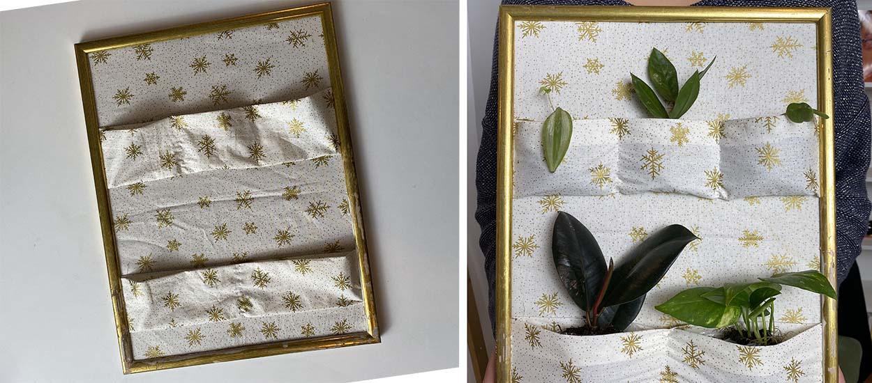 Tuto : Fabriquez un cadre végétal original en tissu