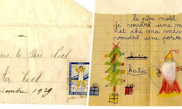 Ce collectionneur a retrouvé des lettres pour le père Noël qui ont plus d'un siècle