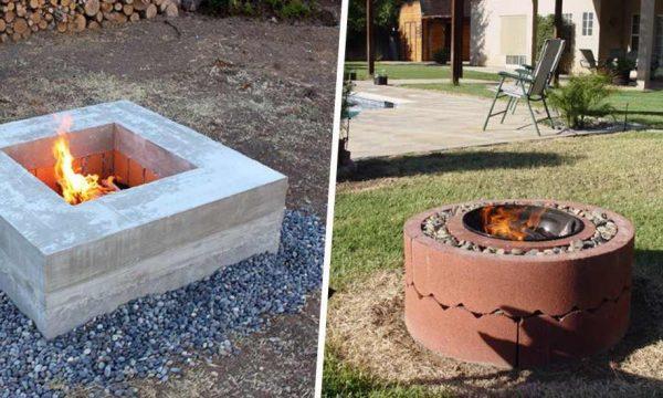 7 idées pour fabriquer un braséro ou un foyer extérieur dans votre jardin
