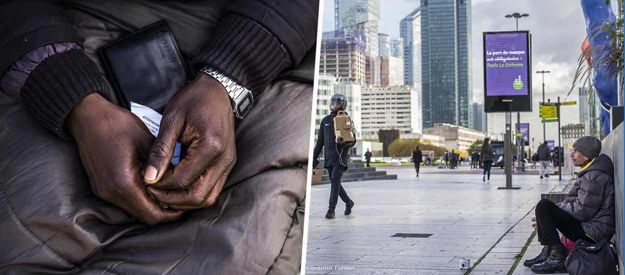"""Il a photographié les sans-abri pendant le confinement : """"On ne naît pas à la rue, on le devient"""""""