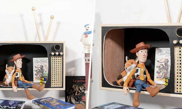 Tuto : Fabriquez une étagère-télévision vintage pour vos enfants