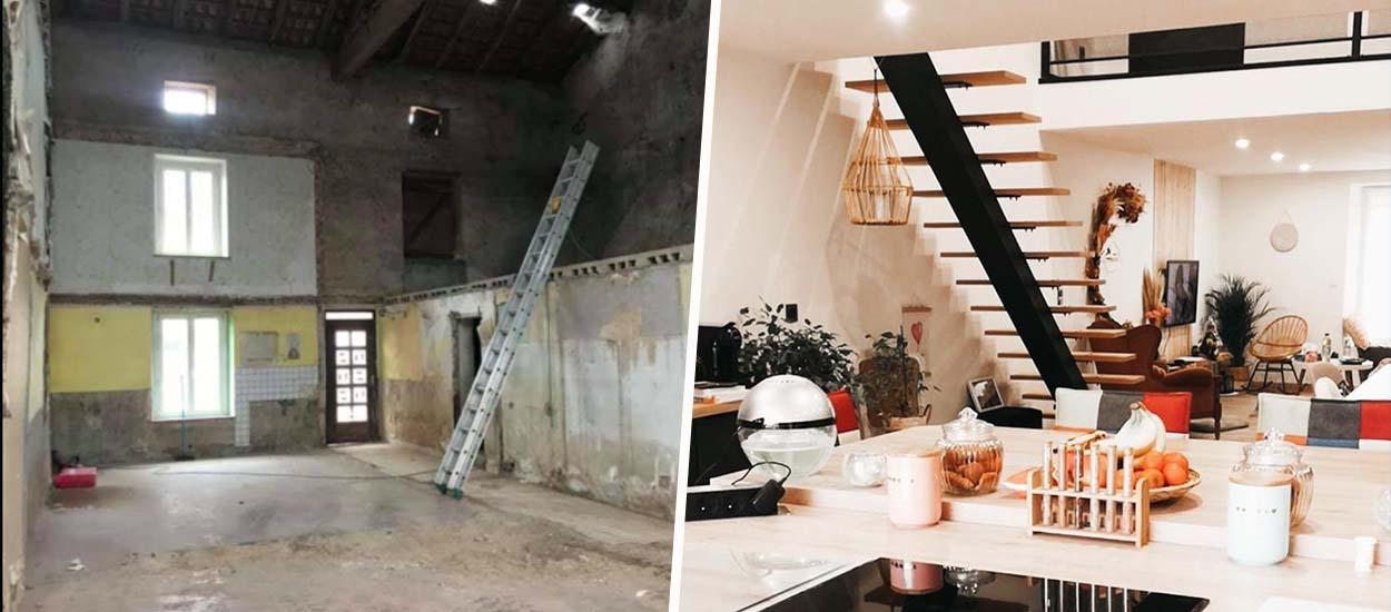 Avant / Après : Entre déco bohème et style industriel pour cette maison refaite de fond en comble