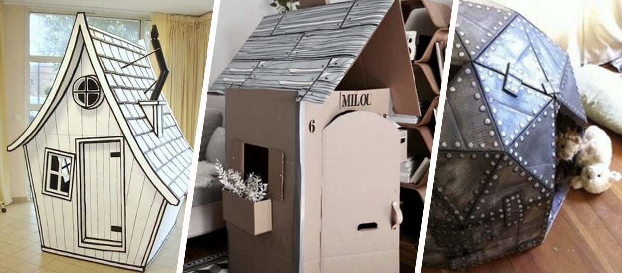 10 superbes cabanes en carton à construire avec vos enfants