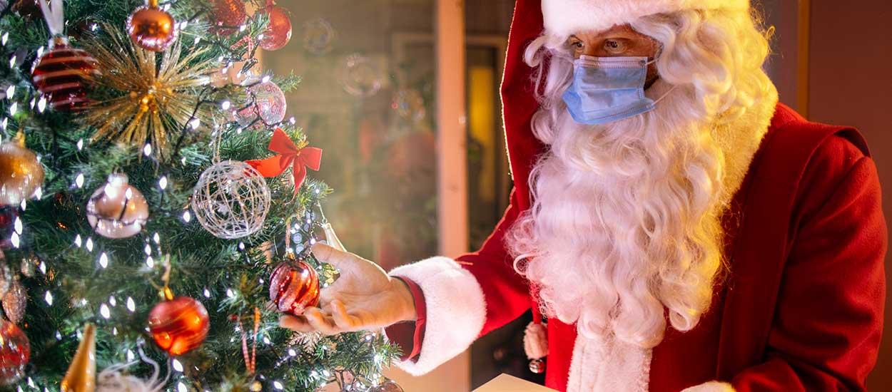 Le Père Noël immunisé contre le Covid-19 pourra distribuer les cadeaux confirme l'OMS
