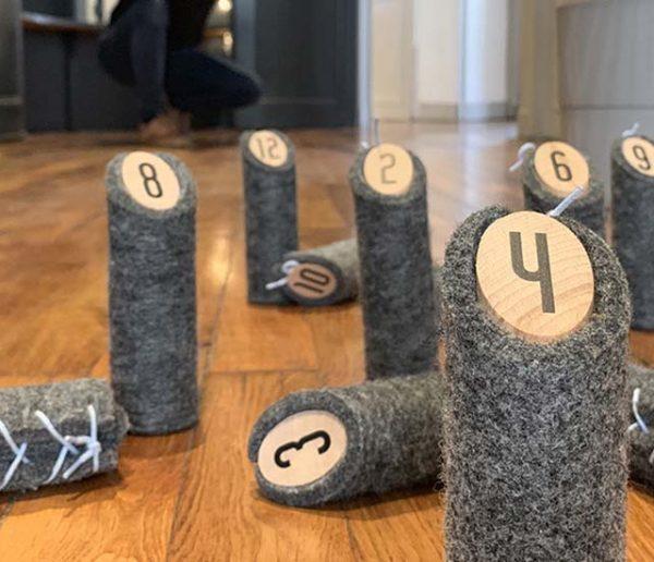 Un jeu de quilles finlandais rembourré... pour jouer à l'intérieur