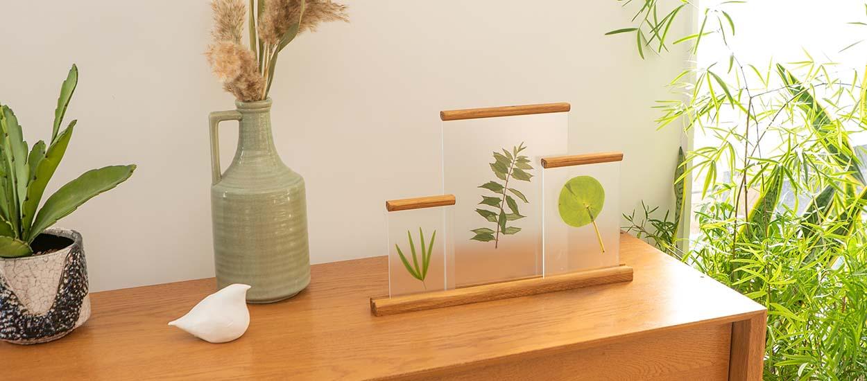Tuto : Fabriquez un trio de cadres herbier à poser