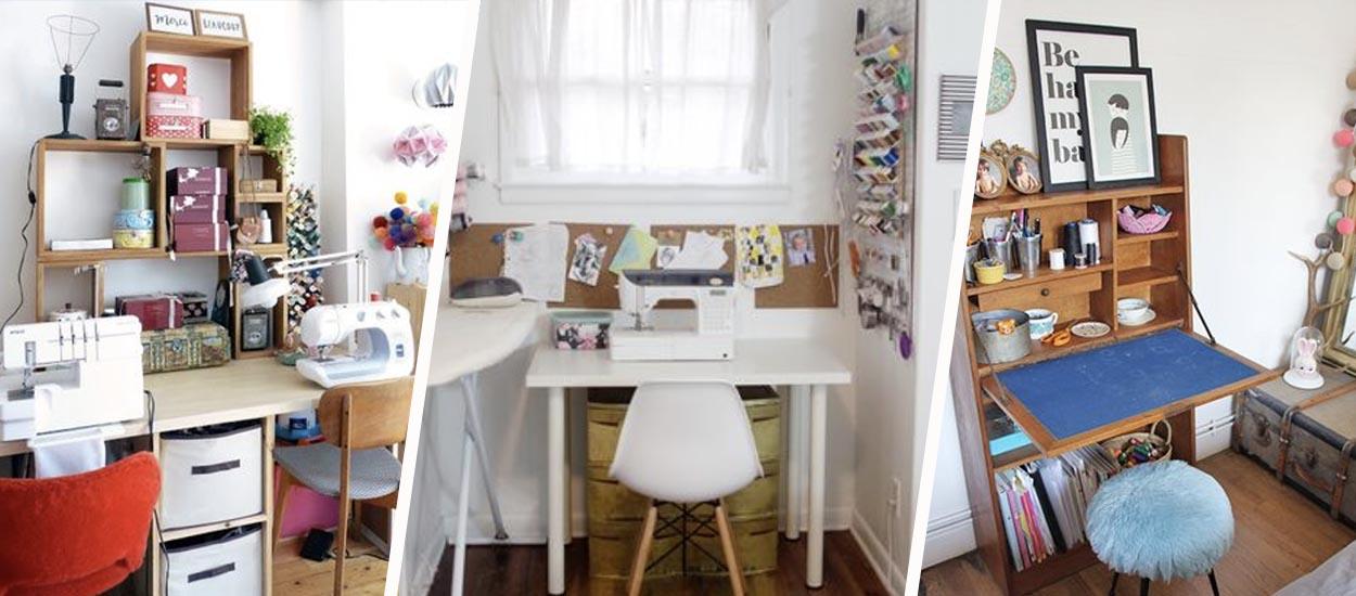 5 inspirations pour aménager un coin couture gain de place à la maison
