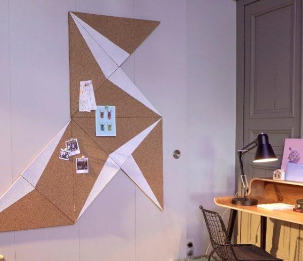 Tuto : Réalisez un pêle-mêle géométrique en liège pour votre bureau