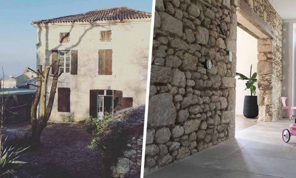 Avant / Après : ils rénovent un ancien presbytère, entre vieilles pierres et déco moderne