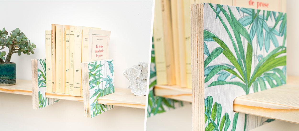 Tuto : Réalisez une paire de serre-livres adaptée à vos étagères pour 5 euros