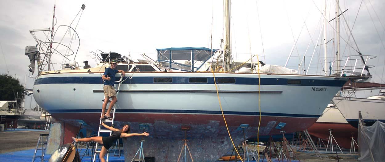 Leur première maison : un voilier qu'ils ont retapé pour naviguer jusqu'aux Bahamas