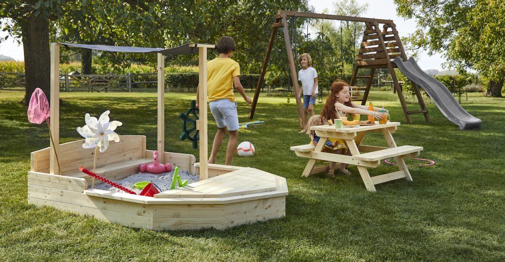 balancoire enfants jardin