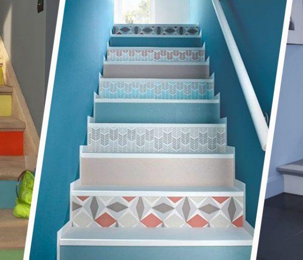 12 inspirations pour décorer les contremarches de ses escaliers