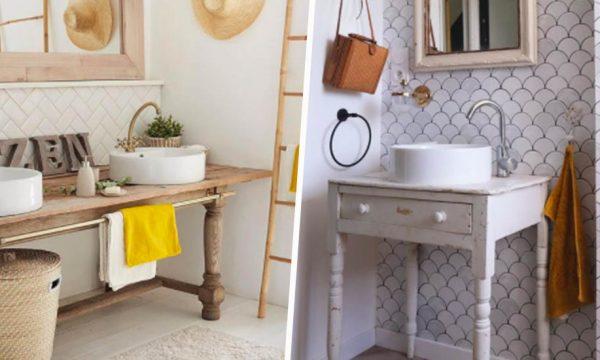 8 idées de meubles à détourner pour fabriquer un meuble sous vasque