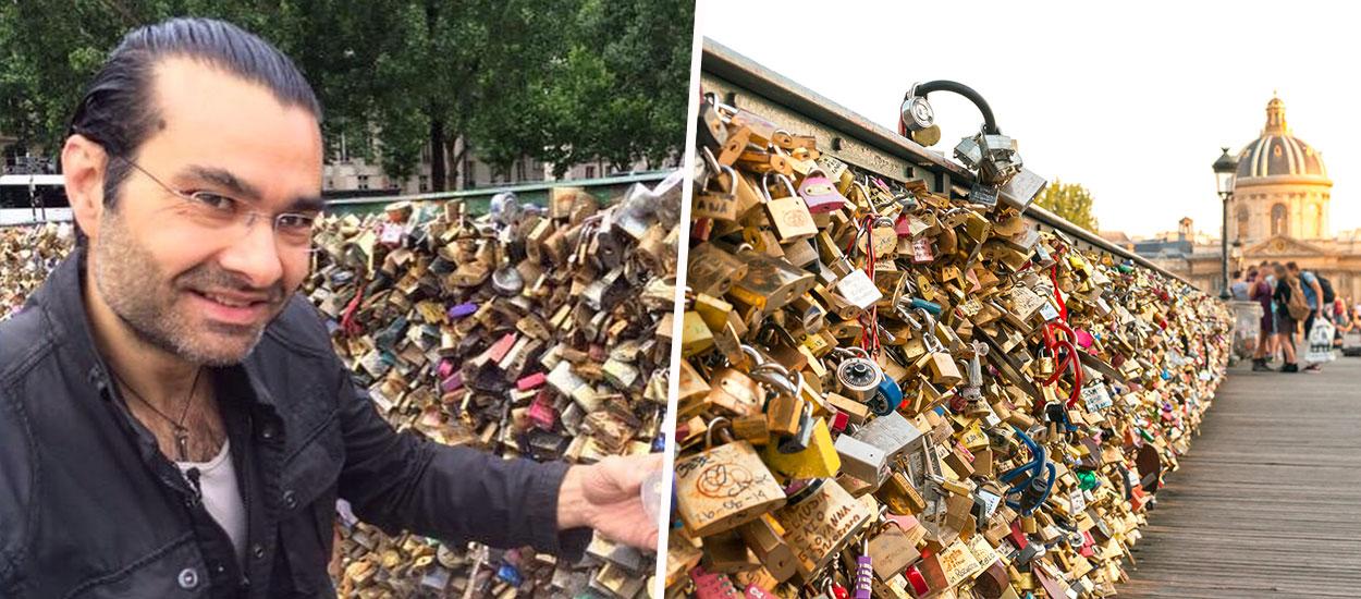 Ce collectionneur a sauvé 800 cadenas d'amour du pont des Arts et peut-être celui des Obama ?