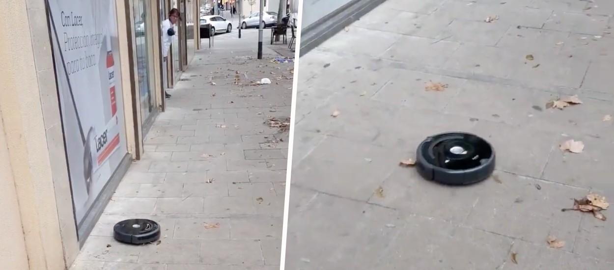 Un aspirateur-robot s'échappe... et se met à aspirer les rues de sa ville