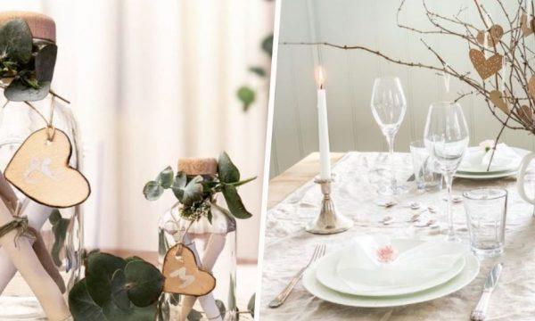 12 idées, de la plus simple à la plus grandiose, pour une belle table de Saint-Valentin