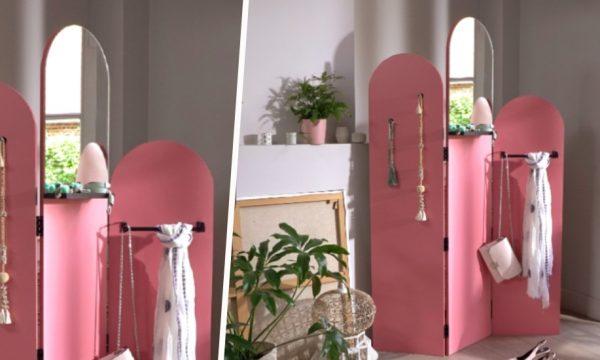 Tuto : Fabriquez un paravent accessoirisé, pratique pour aménager votre entrée