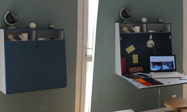 Tuto : Réalisez un bureau suspendu astucieux et gain de place