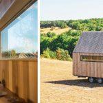 Une tiny house et le fondateur de Abris Nomades
