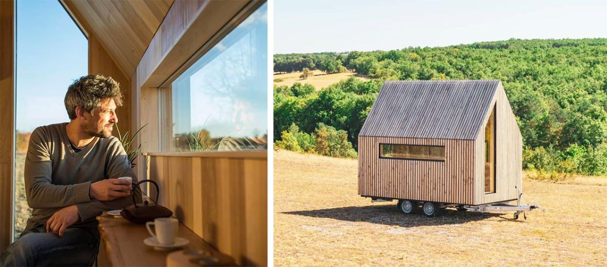 Luthier de formation, Koen a lancé son entreprise de construction de tiny house en Charente