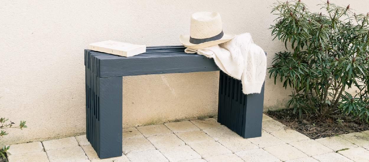 Tuto : Fabriquez un banc de jardin en palette original et déco