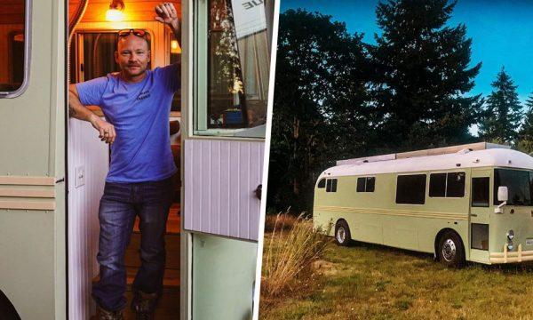 Il rénove le bus de ses grands-parents et reproduit leur road-trip 50 ans plus tard