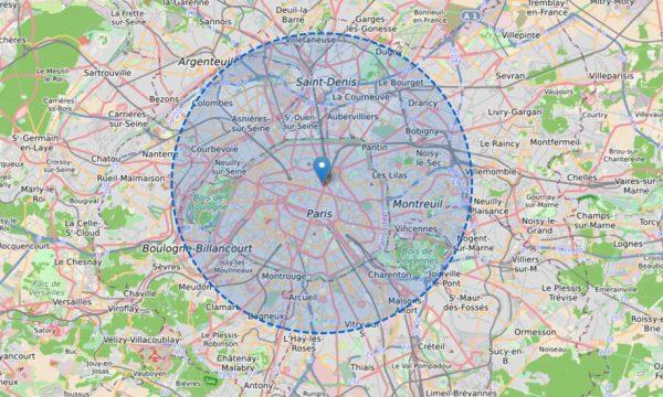 Confinement : ce site calcule le rayon limite de 10 km autour de chez vous
