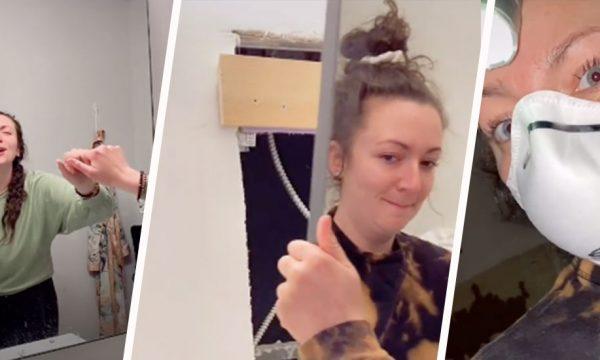 Une Américaine découvre un appartement abandonné derrière le miroir de sa salle de bains