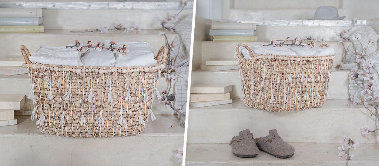 Tuto : Fabriquez un panier à linge bohème chic tout en matériaux naturels