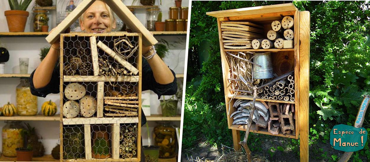7 tutos d'hôtels à insectes à fabriquer vous-même
