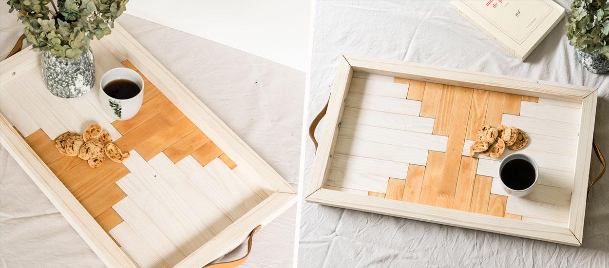 Tuto : Fabriquez un plateau graphique en marqueterie