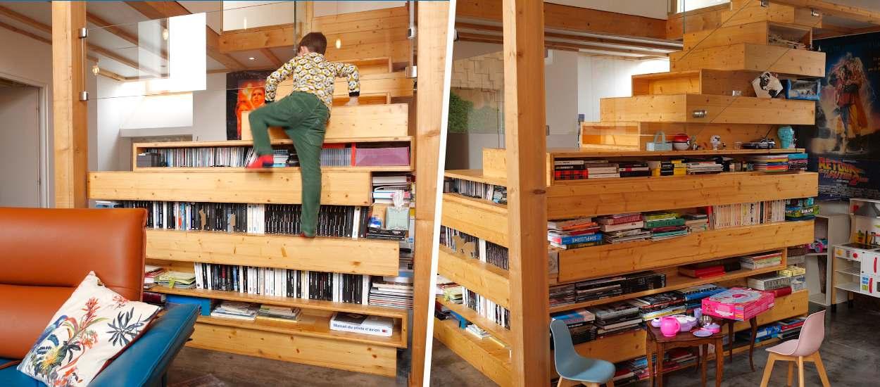 Cet escalier-bibliothèque spectaculaire fait le bonheur de toute la famille