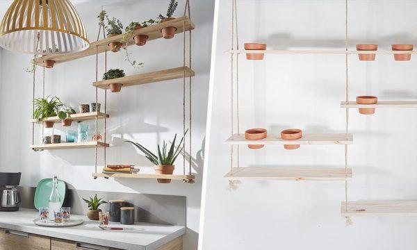 Tuto : Fabriquez une étagère suspendue pour faire pousser des plantes dans votre cuisine