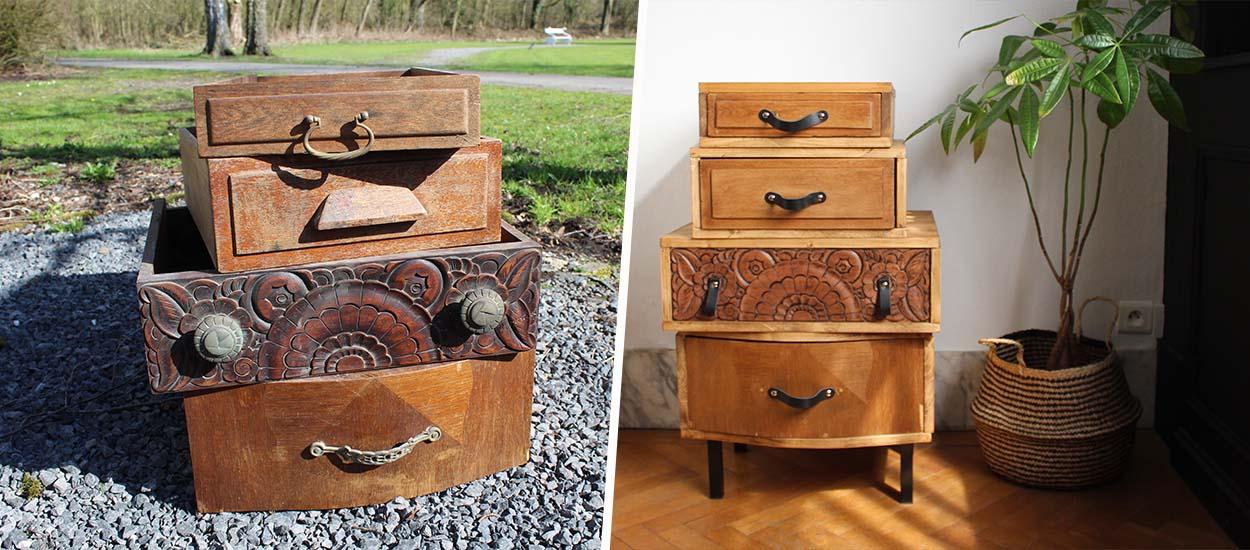 Tuto : Fabriquez un meuble avec des tiroirs dépareillés