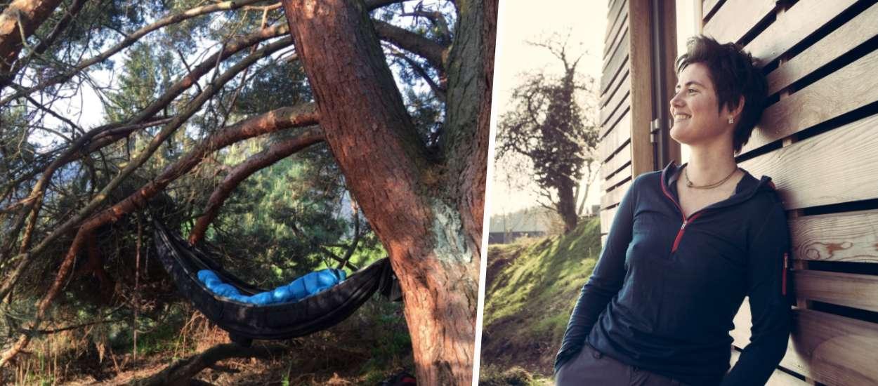 Avant de dessiner la tiny house de ses rêves, Sylvie a dormi 6 mois en hamac dans la forêt