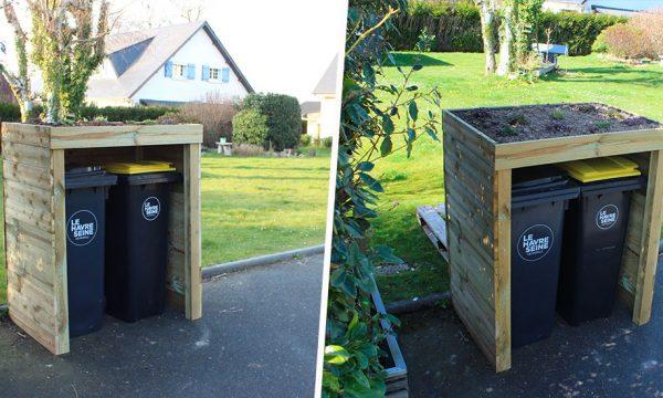 Tuto : Fabriquez un abri végétalisé pour vos poubelles extérieures