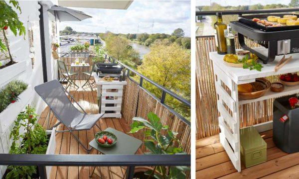 Tuto : Réalisez une desserte pour plancha en palette pour votre balcon