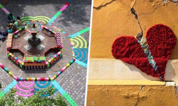 Connaissez-vous le Yarn bombing, le tricot qui redonne des couleurs à la ville ?