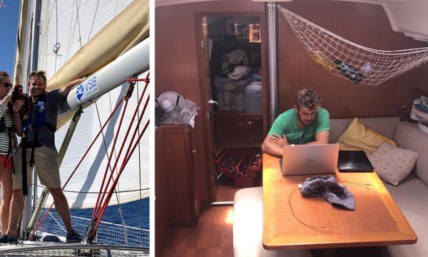 Constance et Clément vivent toute l'année sur un voilier zéro déchet et autonome