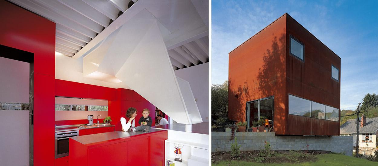 Cette maison cube minimaliste est devenue l'attraction d'un village belge
