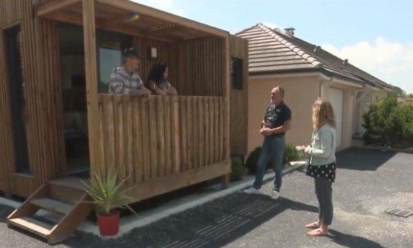 Pour loger son père octogénaire, Patrick installe avec sa femme un studio en bois dans le jardin