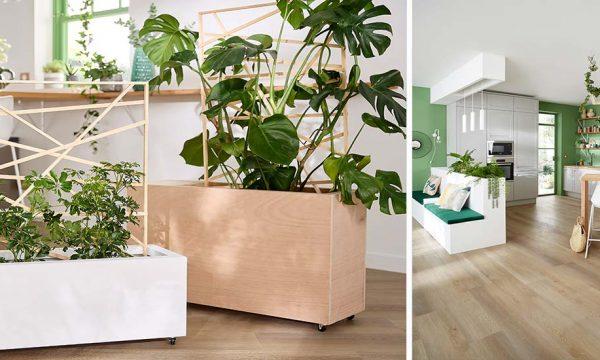 Tuto : Fabriquez une jardinière sur roulettes avec un treillis pour faire grimper vos plantes