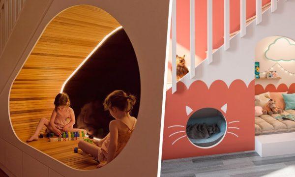 8 idées de cachettes sous les escaliers pour les enfants