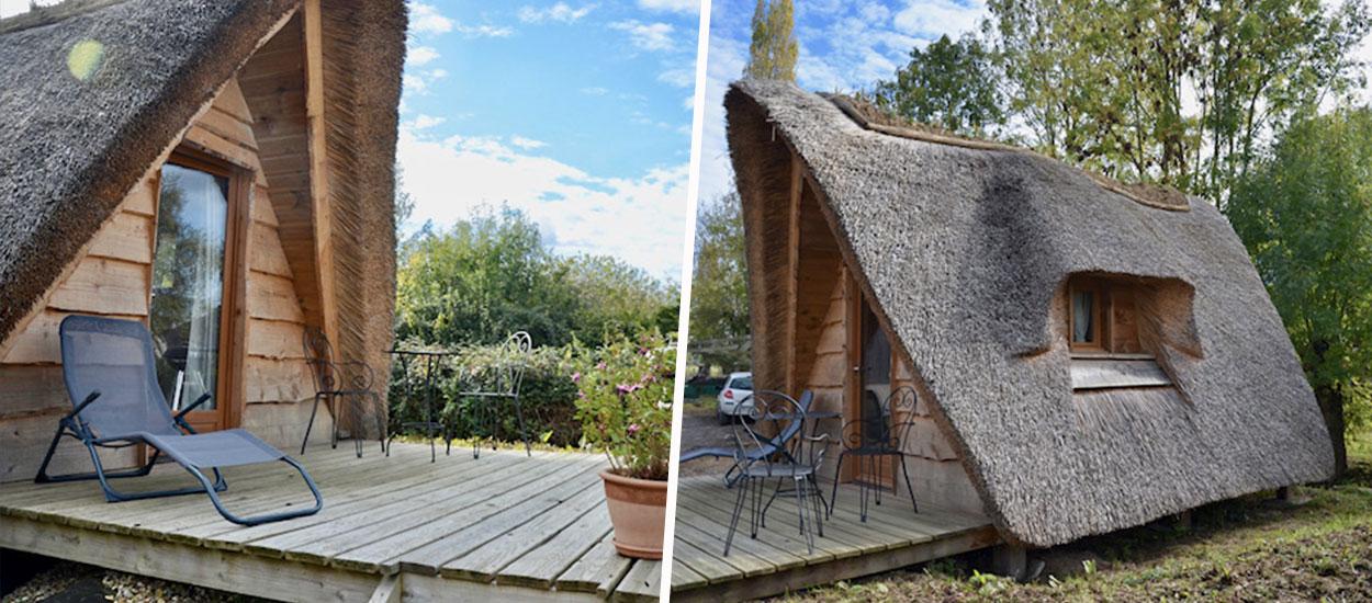 Ces mini-chalets normands au toit de chaume peuvent s'installer dans votre jardin